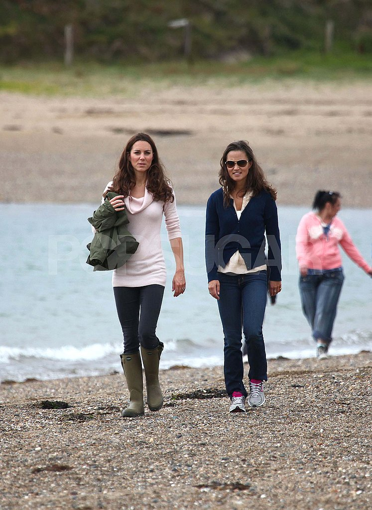 Kate Middleton with her sister Pippa.