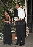 Anthony Parker and his date leave Kim Kardashian's wedding.