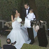 Kourtney Kardashian with Scott and Mason Disick at Kim's wedding.