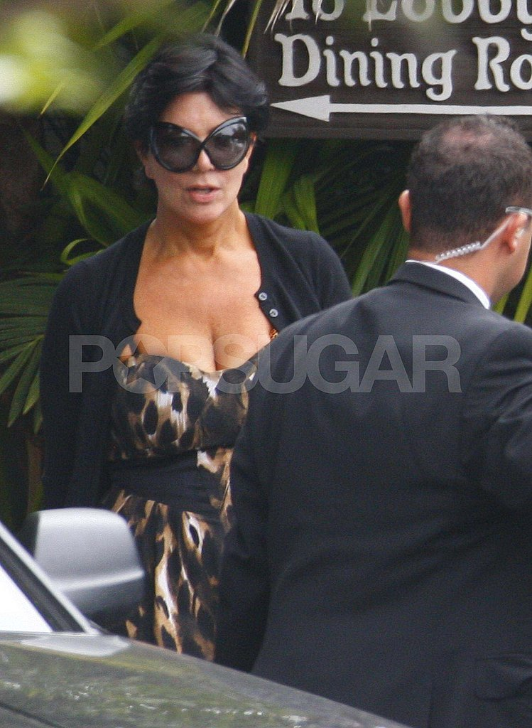 Kris Jenner at the Four Seasons.