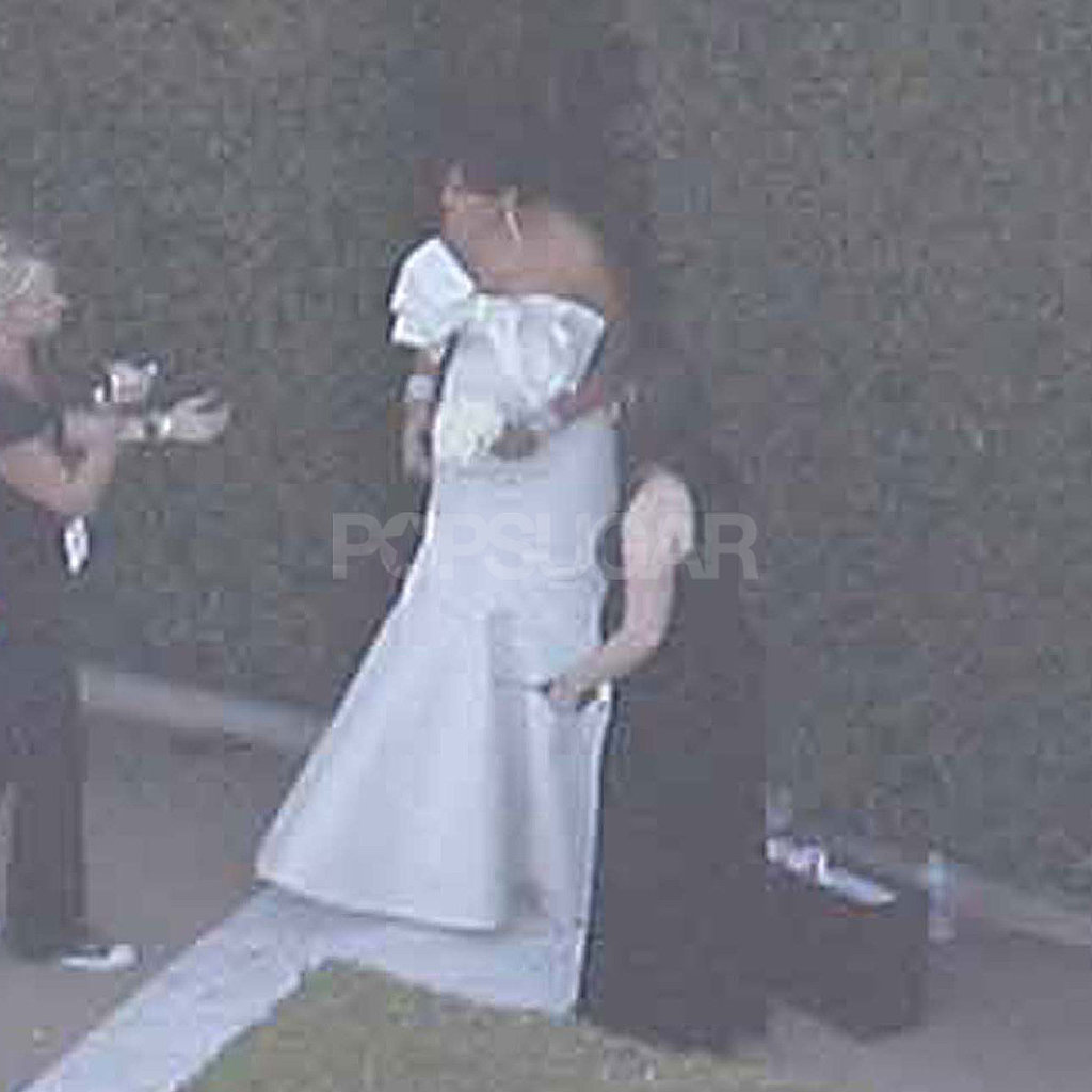 Kris Jenner at Kim Kardashian's wedding.