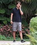 Kim Kardashian's friend Jonathan Cheban at the Four Seasons before the wedding.