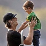 Tom Brady and Jack at the park in Boston.