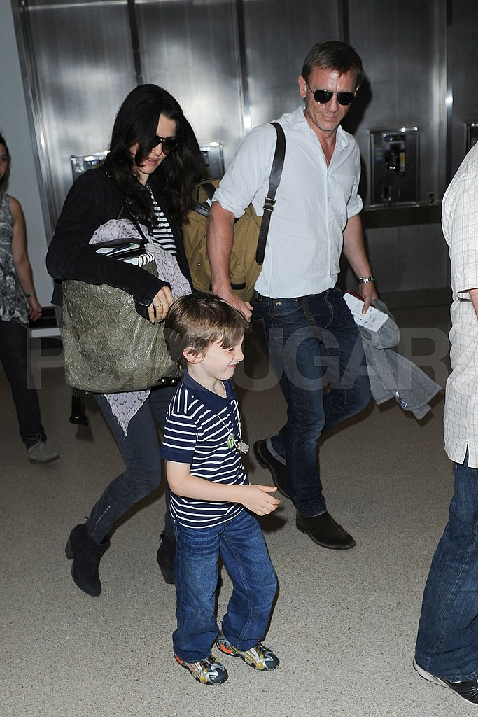 Rachel Weisz and Daniel Craig with her son Henry.