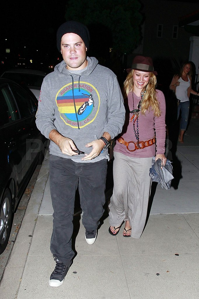Mike Comrie led the way for Hilary Duff.
