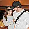 Emily Blunt and John Krasinski Pictures Kissing at LAX