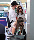 Emily Blunt and John Krasinski at LAX.