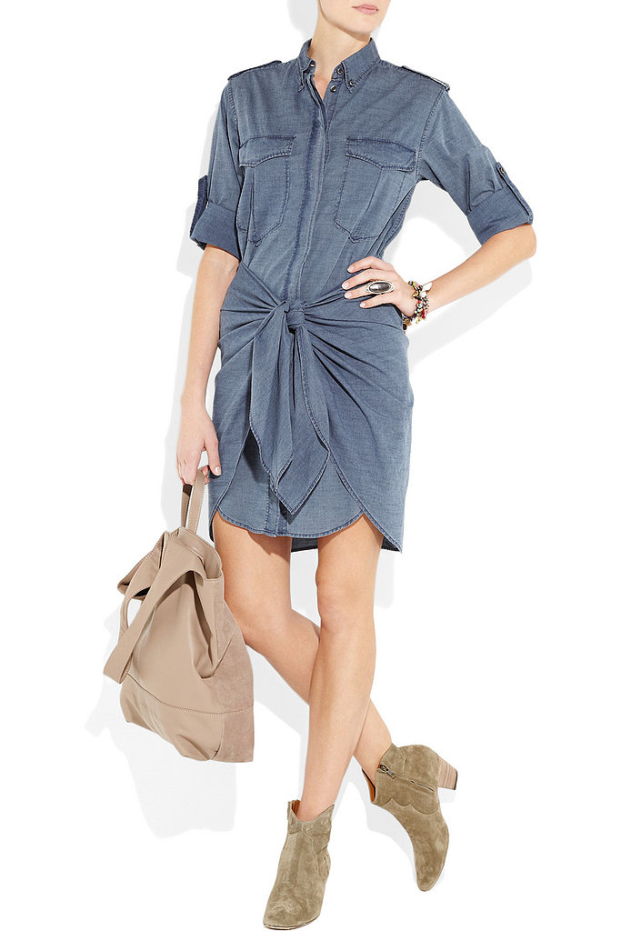 A fun spin on the denim dress. Etoile Isabel Marant Qimi Chambray Shirt Dress ($405)