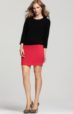 A sleek colorblock effect. DKNY Colorblock Dress ($295)