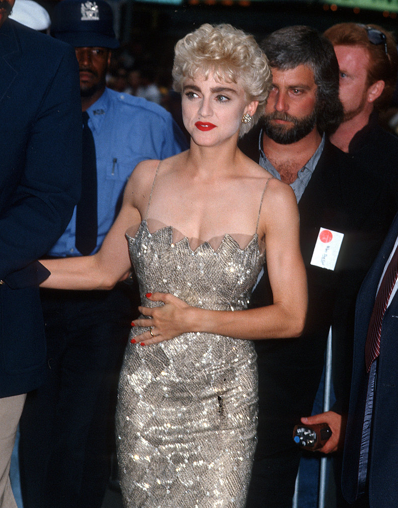 Looking glam in 1986.