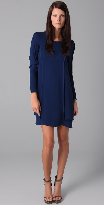 A modest silhouette in a striking deep cobalt hue.  3.1 Phillip Lim Seam Detail Dress ($575)