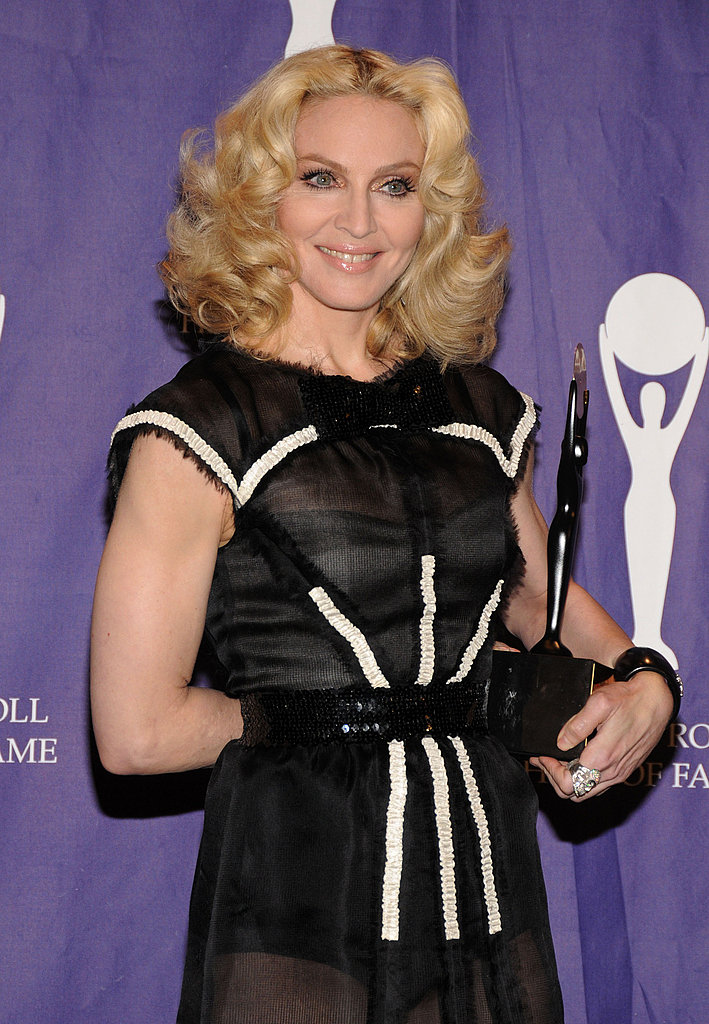 Looking glamorous and ladylike in 2008 at the Rock and Roll Hall of Fame induction.