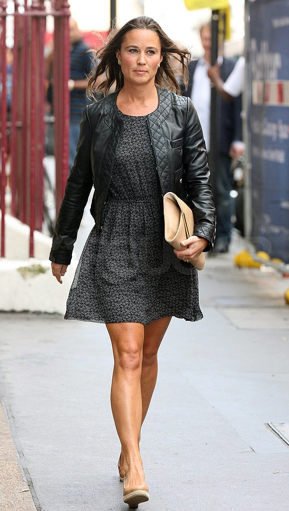 Pippa Middleton walks in a chic Summer dress.