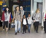 Madonna on her birthday with her kids and boyfriend.