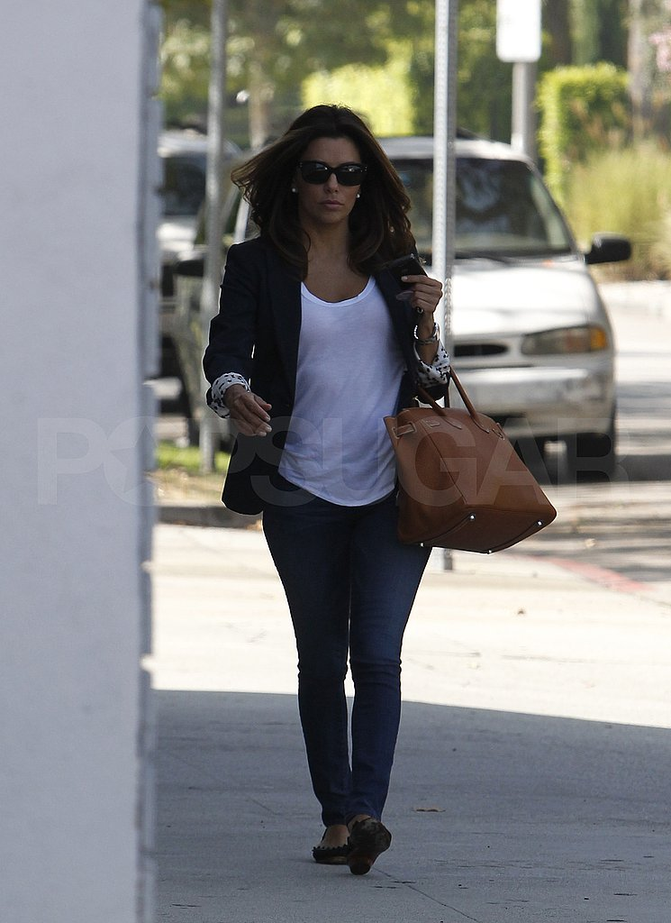 Eva Longoria out in LA without Eduardo Cruz.