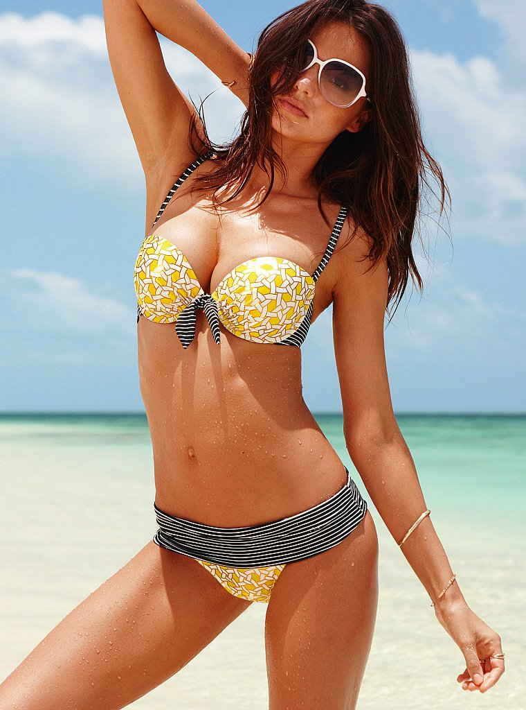 Miranda Kerr in a bikini and sunglasses for Victoria's Secret's new ads.