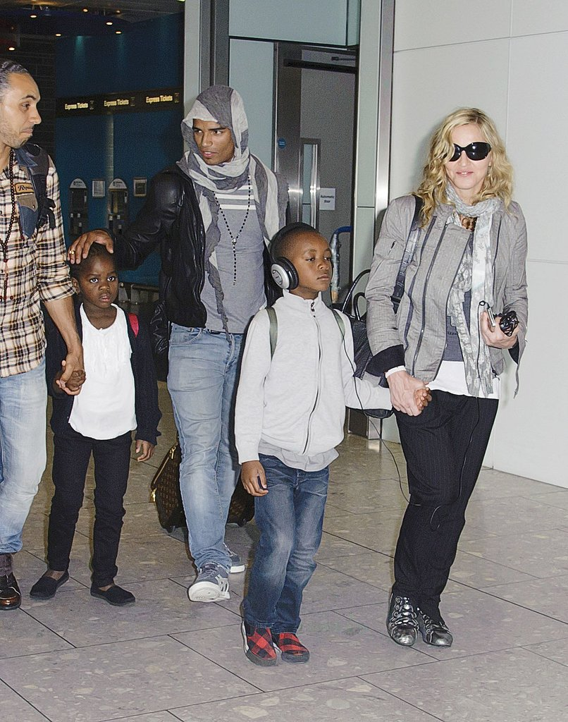 Madonna with Mercy and David.