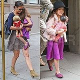 Katie Holmes and Suri Cruise Wear Their Favorite Things For an Early City Morning