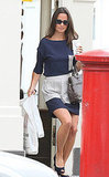 Pippa Middleton starts the day in London.