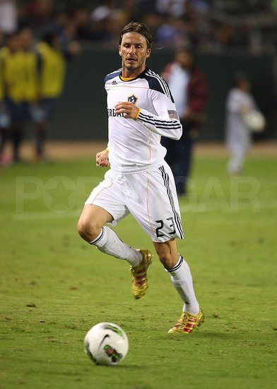 David Beckham played with the LA Galaxy.