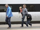 Brad Pitt, Angelina Jolie, and the Kids Board Their Private Train to Glasgow