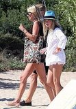 Kate Moss Lunches at St. Tropez's Club 55 With Jamie and Her Extra Happy Friends