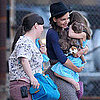 Katie Holmes and Suri Cruise Pictures Taking Off From NYC Heliport