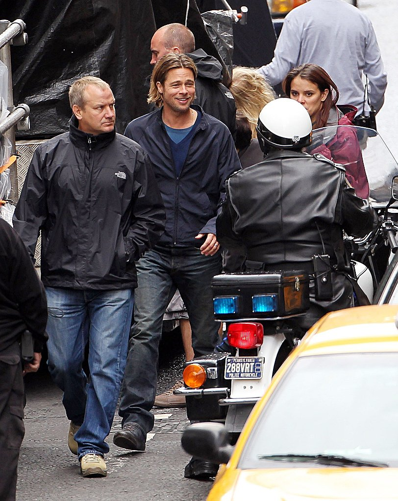 Brad Pitt works on World War Z in Glasgow, which looks like Philadelphia now.
