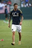 David Beckham took the field.