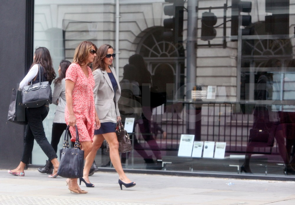 Pippa Middleton in London with mom Carole.