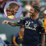 David Beckham Has Fans in Gordon Ramsay and Romeo at His Galaxy Game