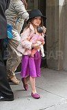 Suri Cruise all dressed up.