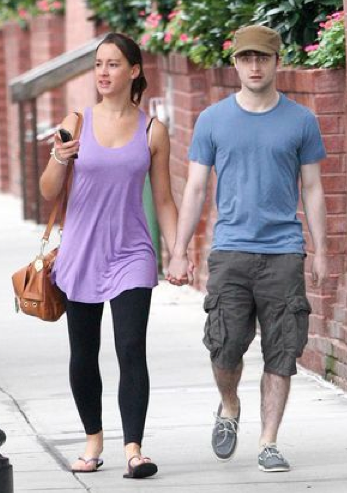 Daniel Radcliffe and his girlfriend held hands in NYC.