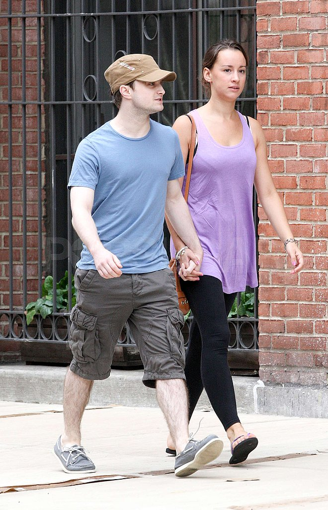 Daniel Radcliffe and his girlfriend were perfectly in step.