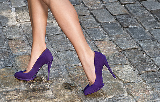 Fredrique Purple Suede Almond-Toe Pumps ($325)