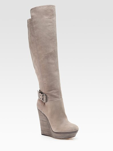 Venada Leather Belted Knee-High Boots ($525)