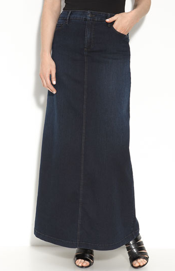 This maxi skirt is perfect for pairing with a cozy sweater and ankle booties. Not Your Daughter's Jeans Ellen Stretch Denim Maxi Skirt ($110)
