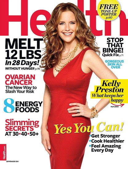 Kelly Preston and Benjamin Travolta in Health Magazine
