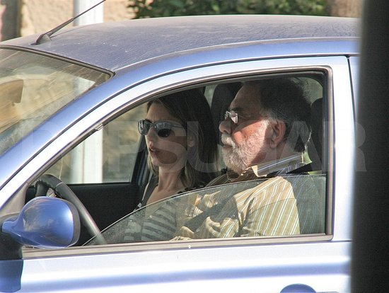 Sofia Coppola with dad Francis Ford Coppola before her wedding on Aug. 27.