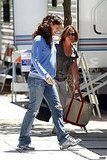 Jennifer Garner on set.