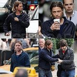 Brad Pitt Logs a Long, Active Day on the Glasgow Set of World War Z