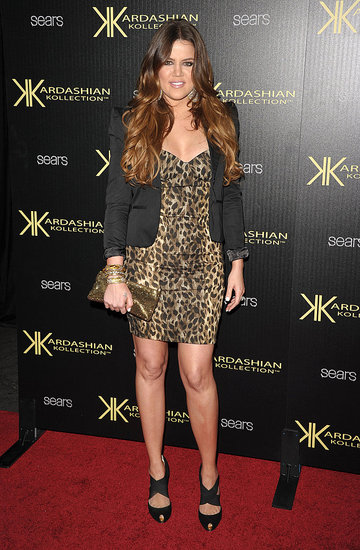 Khloe Kardashian at the Kardashian Kollection launch.