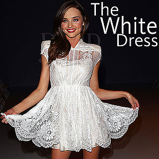 White Dresses Worn by Celebrities: Pictures of Miranda Kerr, Blake Lively, Lea Michelle, Katie Holmes and more in white Dresses!
