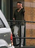 Natalie Portman in NYC without newborn Aleph Millepied.
