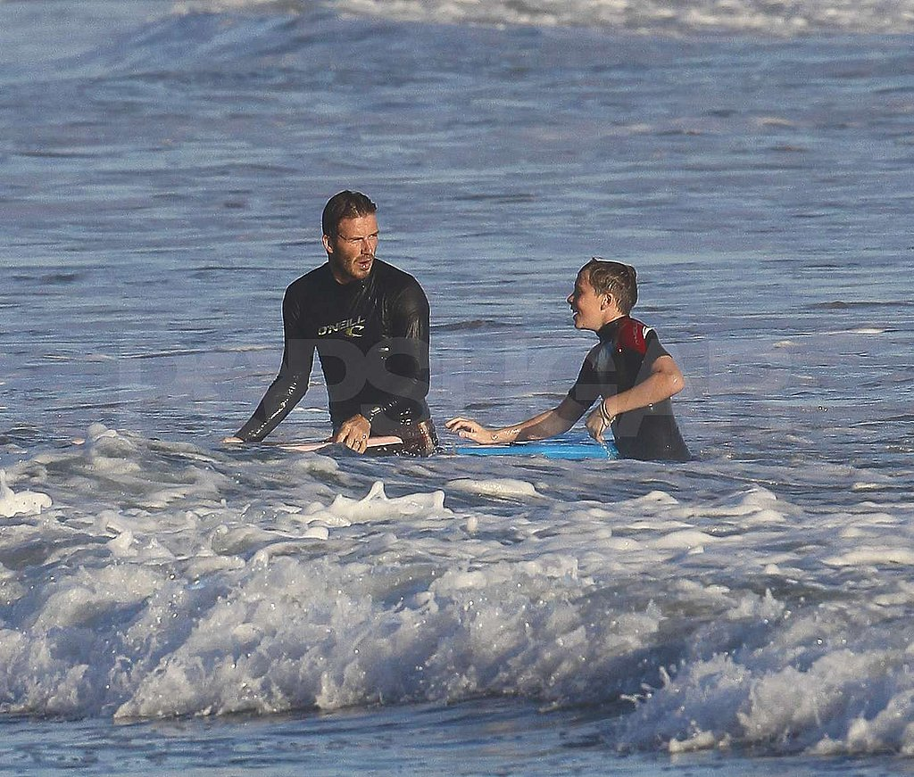 David Beckham and Brooklyn Beckham made a splash.