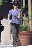 Scarlett Johansson carried a post-workout drink.