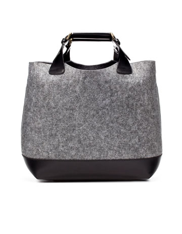 Zara Felt Shopper ($159)
