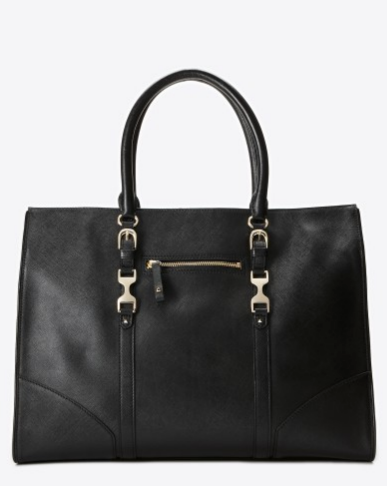 Ann Taylor Saffiano Leather Horsebit Work Tote ($298)
