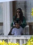 Angelina Jolie and Maddox.