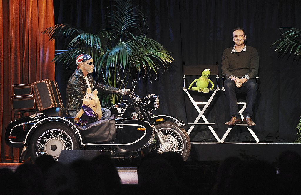 Miss Piggy joined Jason Segel and Kermit the Frog on stage.